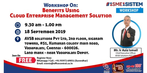 Workshop on Benefit using Cloud Enterprise Management Solution (18 September 2019)