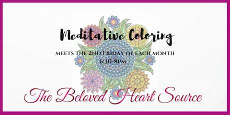 Meditative Coloring tickets