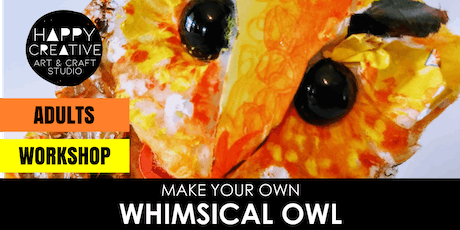 Whimsical Owl - Mix Media Workshop (Adults) tickets