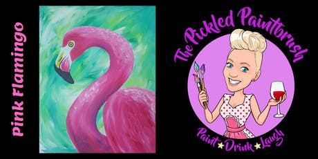 Painting Class - Pink Flamingo - ALL AGES - October 12, 2019 tickets