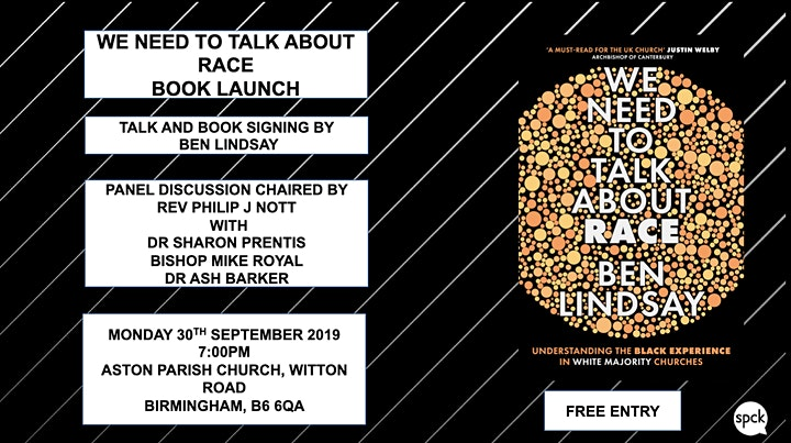 WE NEED TO TALK ABOUT RACE  BOOK LAUNCH (BIRMINGHAM) image