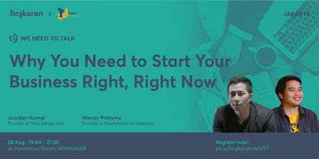 Why You Need to Start Your Business Right, Right Now tickets