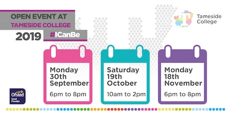 Tameside College Open Events tickets