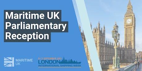 Maritime UK Parliamentary Reception tickets