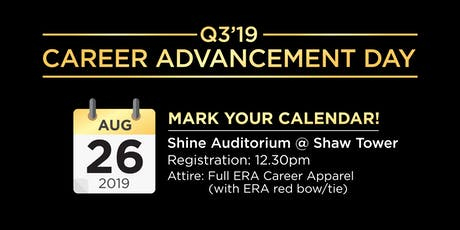 Q3'19 Career Advancement Day tickets