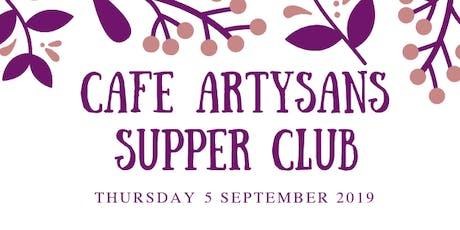 Cafe Artysans Supper Club tickets