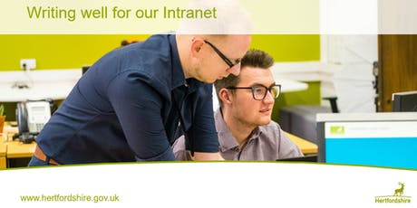 Intranet editor refresher training tickets