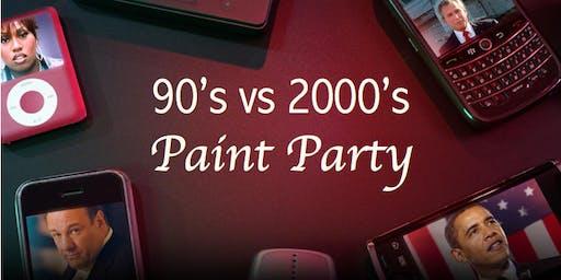 90's vs 2000's Paint Party
