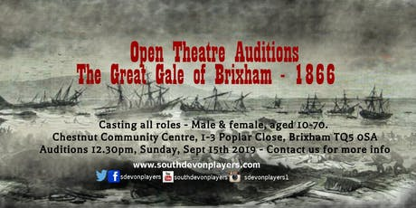 Open Theatre Auditions: The Great Gale of Brixham 1866 tickets