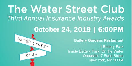 The Water Street Club's Third Annual Insurance Industry Awards Dinner tickets