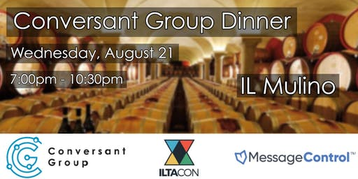 Conversant Group | MessageControl Dinner at ILTACon