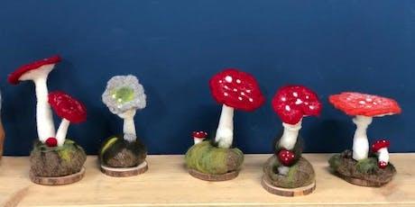 Half day - 3D Needlefelt Toadstools & Mushrooms tickets