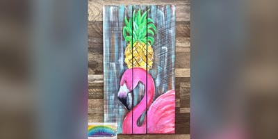 Pineapple Flamingo: LaPlata, Greene Turtle with Artist Katie Detrich