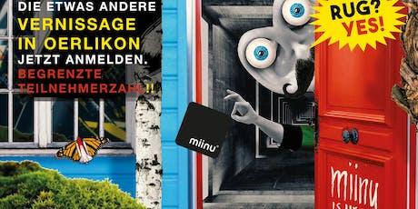 Designteppich Vernissage von miinu® in der GIESSEREI OERLIKON, Zürich. tickets
