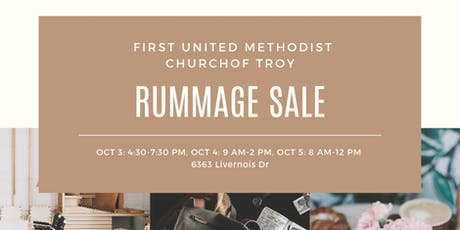 Troy First UMC Rummage Sale tickets