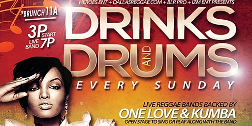 DRINKS & DRUMS \ FREE EVERY SUNDAY