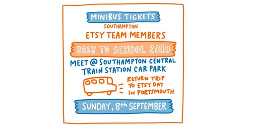 MINIBUS from Southampton Etsy Portsmouth & Southampton Back to School