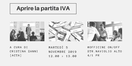 Aprire la partita IVA | Incontro gratuito  biglietti