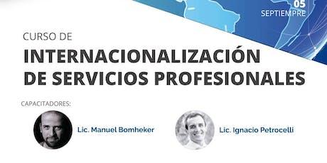 Curso: Internacionalización de Servicios Profesionales entradas