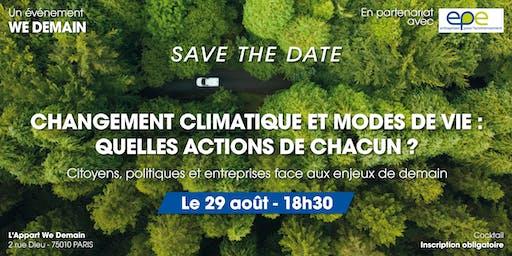 Changement climatique et modes de vie : quelles actions de chacun ?