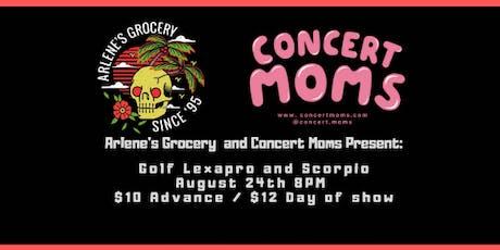 Golf Lexapro and Scorpio tickets