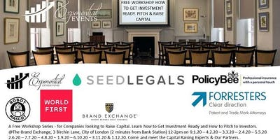 Free Company Workshop-Learn How to Get Investment Ready, Pitch & Raise Capital