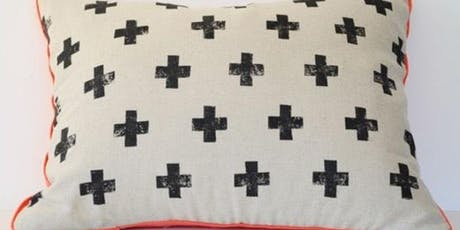 First Friday Wine'd Down: Block Printed Pillows tickets