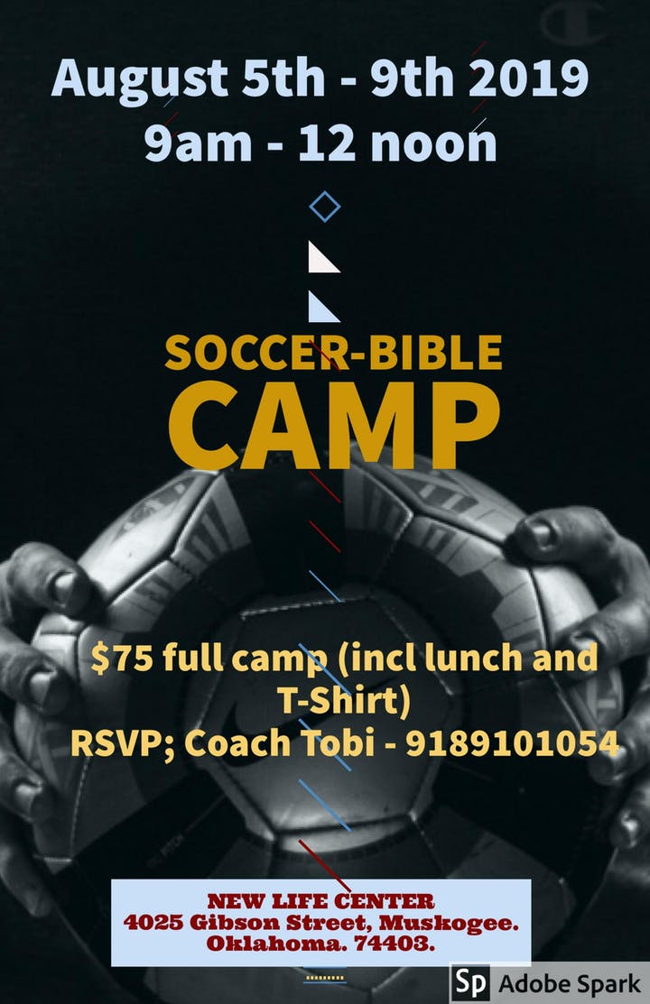 Soccer-Bible Camp Tickets, Mon, Aug 5, 2019 at 9:00 AM
