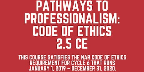 Pathways to Professionalism - Code of Ethics 2019/20 tickets