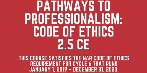 Pathways to Professionalism - Code of Ethics 2019/20