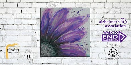 Paint to End Alzheimer's - Purple Abstract Flower Painting tickets