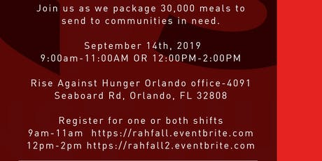 Rise Against Hunger-Fall Kick off Event  tickets