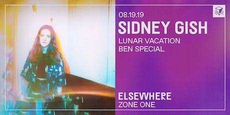 Sidney Gish @ Elsewhere (Zone One) tickets