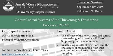 Odour Control Systems of the Thickening & Dewatering Process at ROPEC tickets