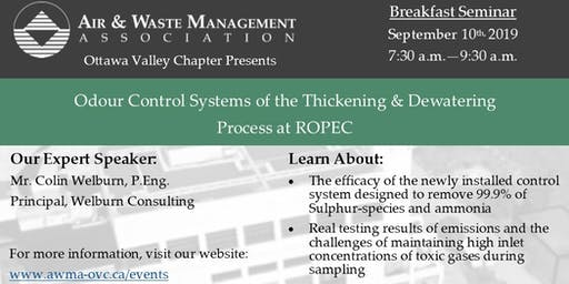 Odour Control Systems of the Thickening & Dewatering Process at ROPEC