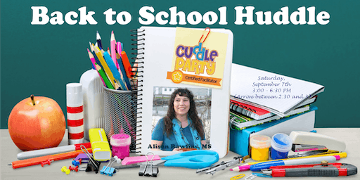 Back to School Huddle: September 2019 Cuddle Party