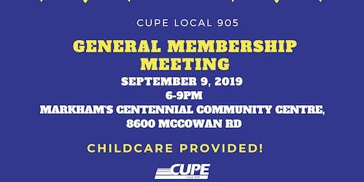 CUPE Local 905 General Membership Meeting (GMM)