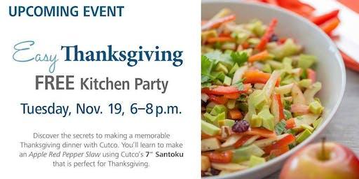 Free Kitchen Party - Easy Thanksgiving