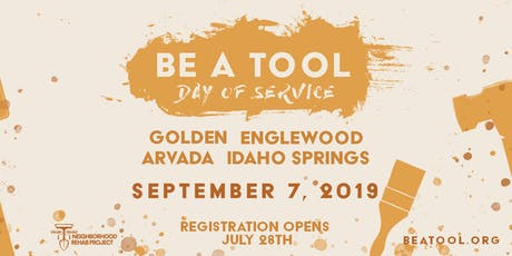 """Arvada's 2019 """"Be a Tool"""" Day of Service tickets"""