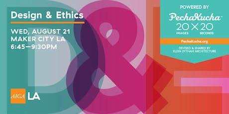 Design & Ethics, Powered by PechaKucha tickets