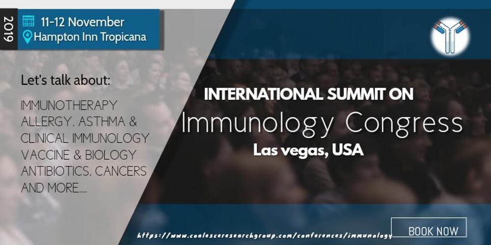 International Summit on Immunology Conference Tickets, Mon