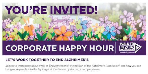 Walk to End Alzheimer's Corporate Happy Hour