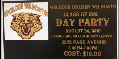 Melrose Class of 1981 Day Party tickets