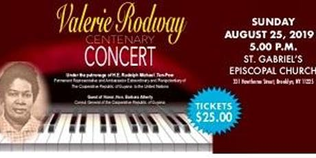 Valerie Rodway Centenary Concert tickets