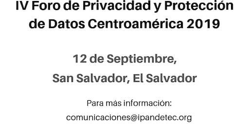 V Foro de Privacidad y Protección de Datos -  El Salvador