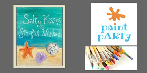 Paint'N'Sip Canvas - Salty Kisses & Starfish Wishes - $35 pp