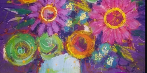 Abstract Acrylic Florals