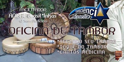 Oficina de Tambor Lakota - Anibal Brasil-Inka