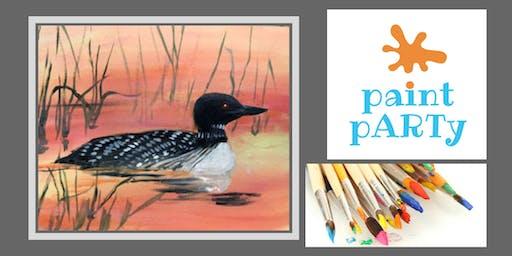 Paint'N'Sip Canvas - Loon - $35 pp