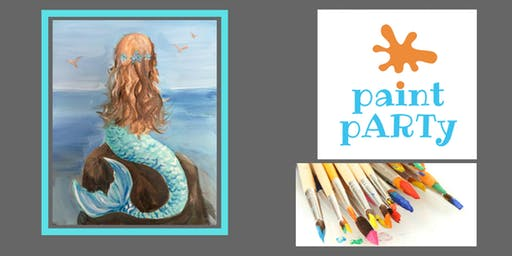 Paint'N'Sip Canvas - Mermaid - $35pp